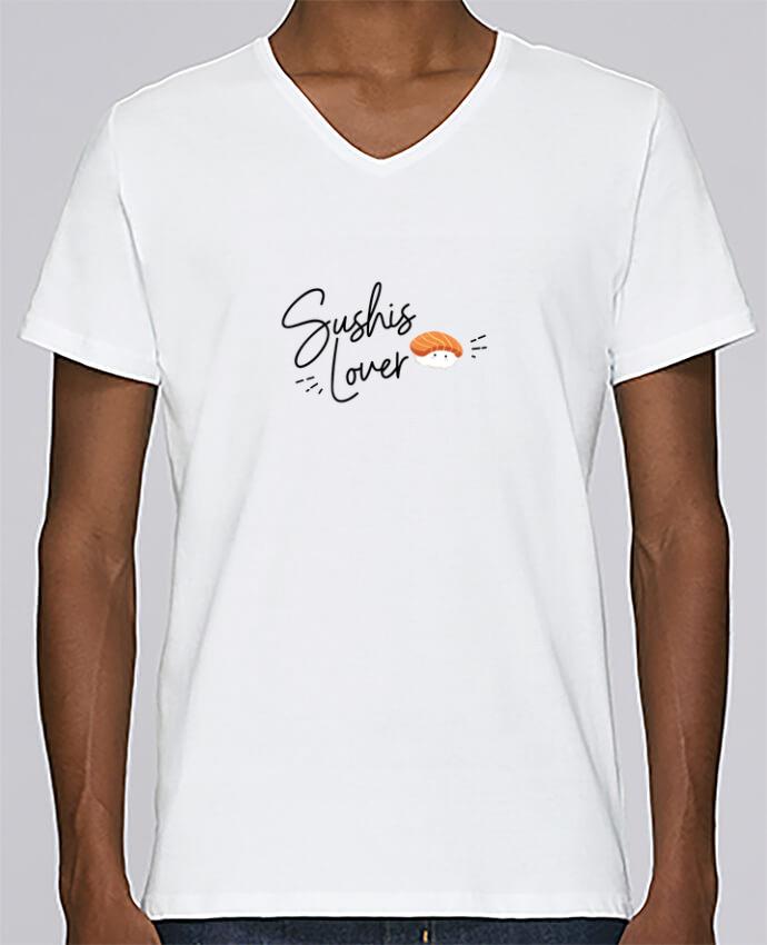 T-shirt Col V Homme Stanley Relaxes Sushis Lover par Nana