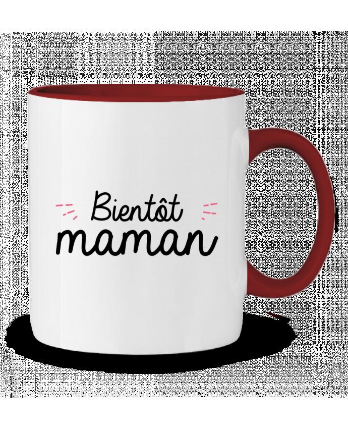 Mug en Céramique Bicolore Bientôt maman Nana