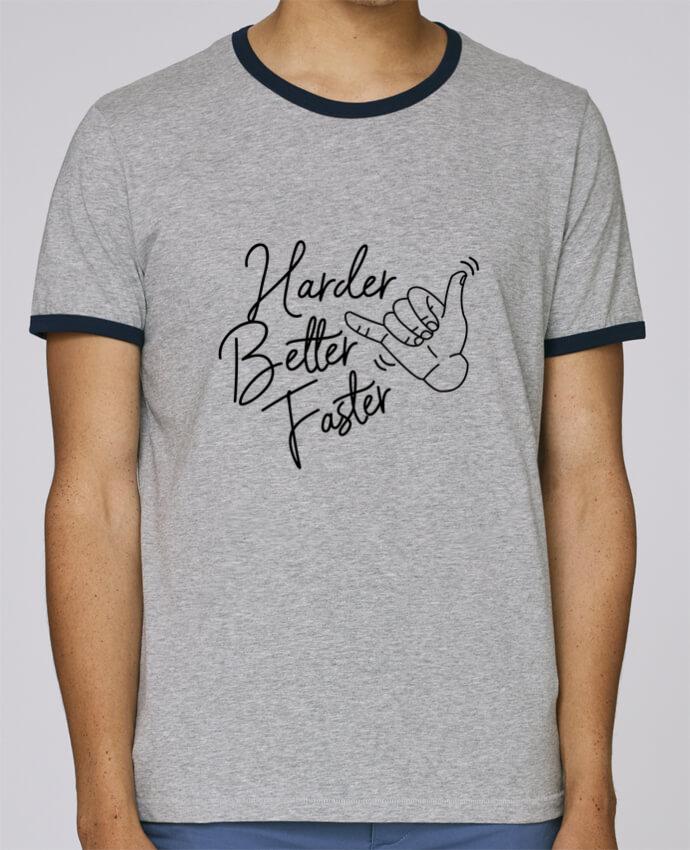 T-Shirt Ringer Contrasté Homme Stanley Holds Harder Better Faster pour femme par Nana