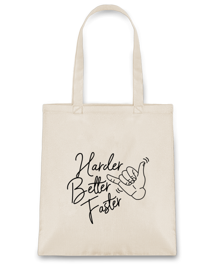 Sac en Toile Coton Harder Better Faster par Nana