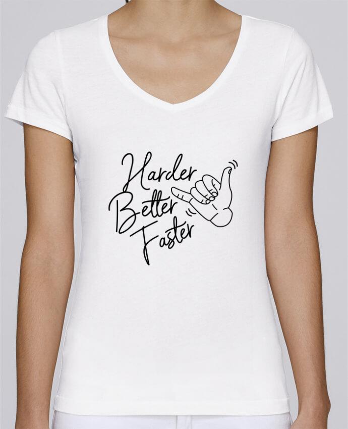 T-shirt Femme Col V Stella Chooses Harder Better Faster par Nana