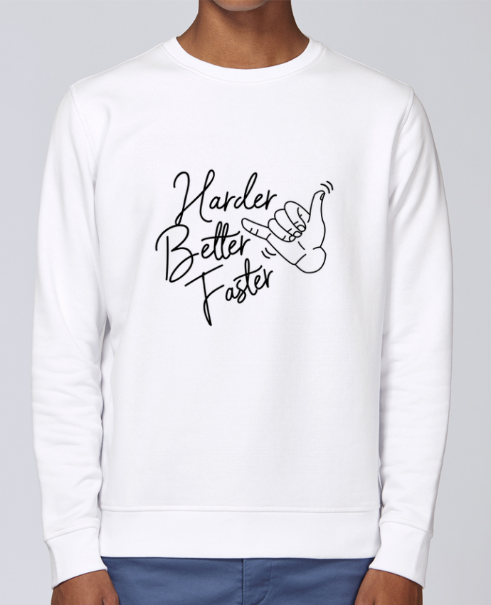 Sweat Col rond Unisex Stanley Stella Rise Harder Better Faster par Nana