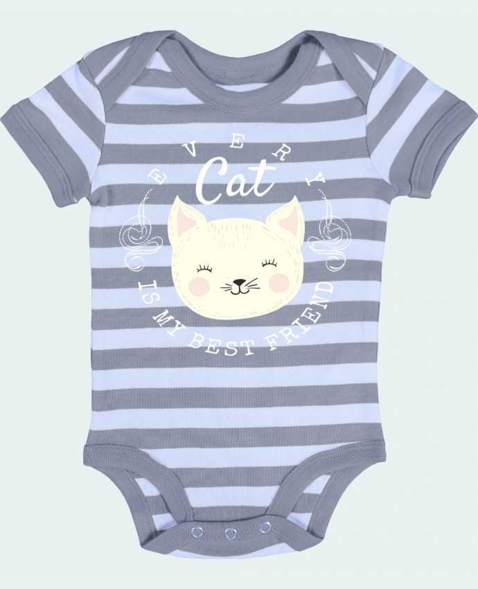 Body Bébé à Rayures every cat is my best friend - livelongdesign
