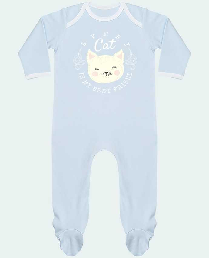 Pyjama Bébé Manches Longues Contrasté every cat is my best friend par livelongdesign