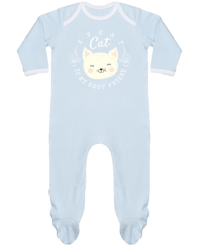Pyjama Bébé Manches Longues Contrasté every cat is my best friend par livelongdesign