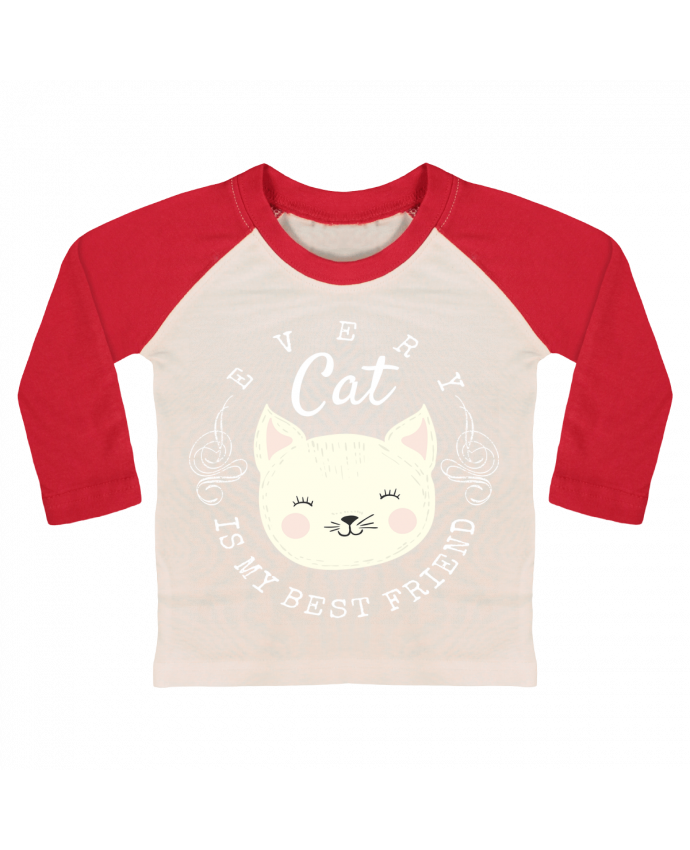 T-shirt Bébé Baseball Manches Longues every cat is my best friend par livelongdesign