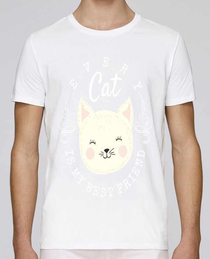 T-Shirt Col Rond Stanley Leads every cat is my best friend par livelongdesign