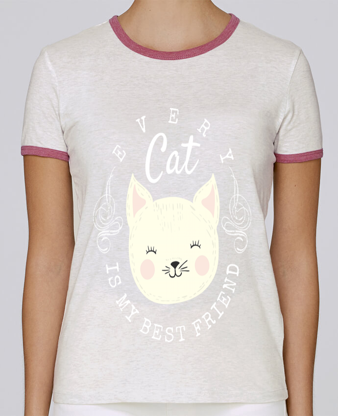 T-shirt Femme Stella Returns every cat is my best friend pour femme par livelongdesign