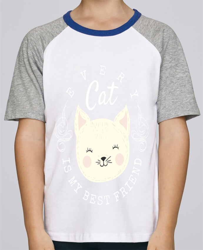 Tee-Shirt Enfant Stanley Mini Jump Short Sleeve every cat is my best friend par livelongdesign