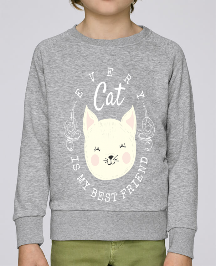 Sweat Col Rond Enfant Stanley Mini Scouts every cat is my best friend par livelongdesign