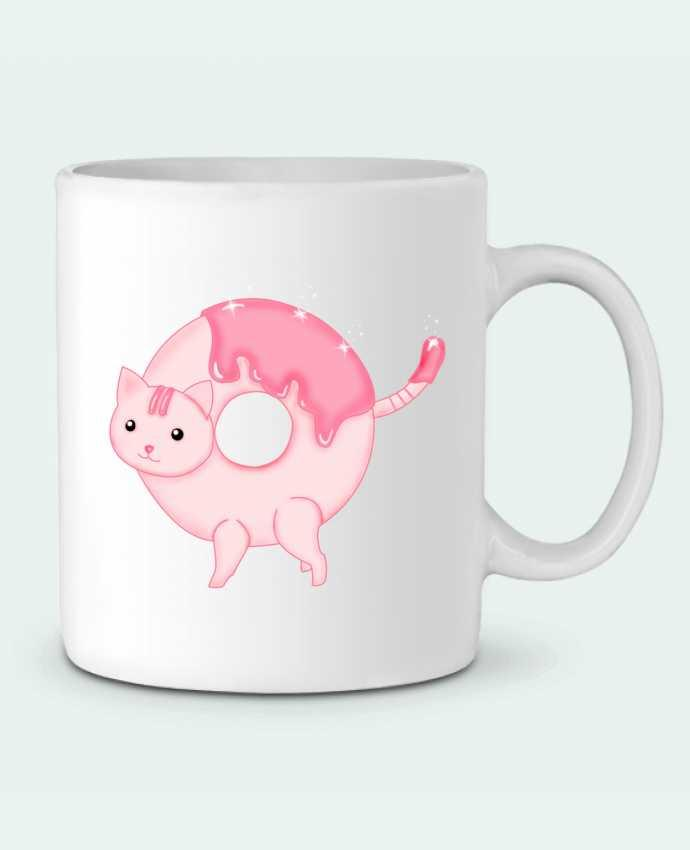 Mug en Céramique Tasty Donut Cat par Thesoulofthedevil