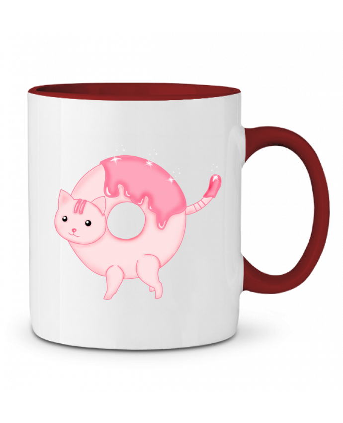Mug en Céramique Bicolore Tasty Donut Cat Thesoulofthedevil