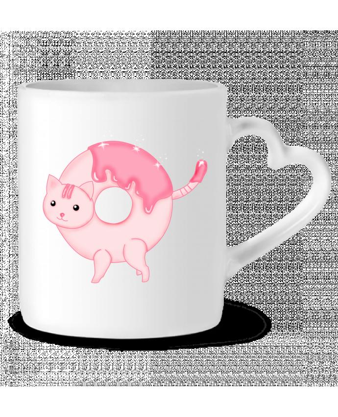 Mug Coeur Tasty Donut Cat par Thesoulofthedevil