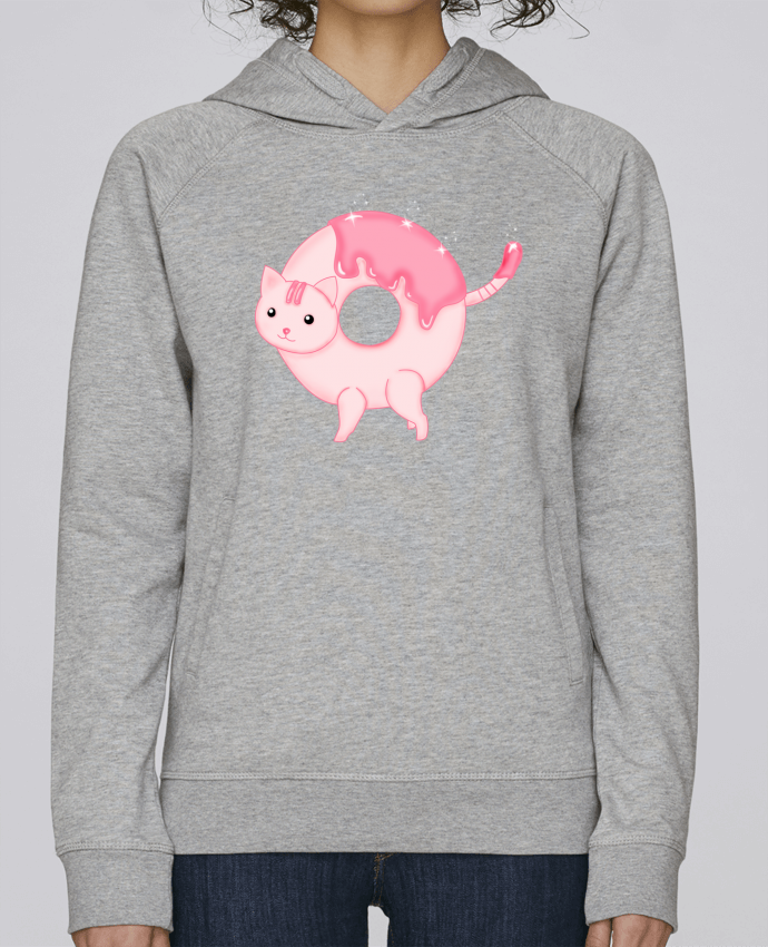 Sweat Capuche Femme Stanley Base Tasty Donut Cat par Thesoulofthedevil