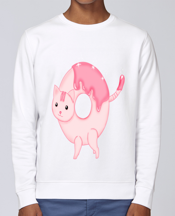Sweat Col rond Unisex Stanley Stella Rise Tasty Donut Cat par Thesoulofthedevil