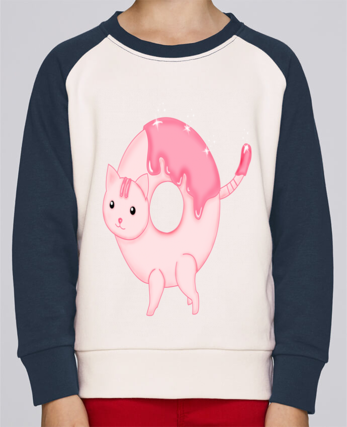 Sweat Shirt Col Rond Enfant Stanley Mini Contrast Tasty Donut Cat par Thesoulofthedevil