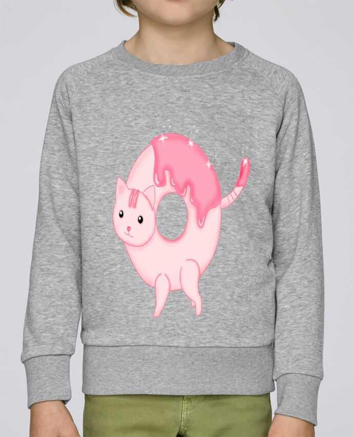 Sweat Col Rond Enfant Stanley Mini Scouts Tasty Donut Cat par Thesoulofthedevil