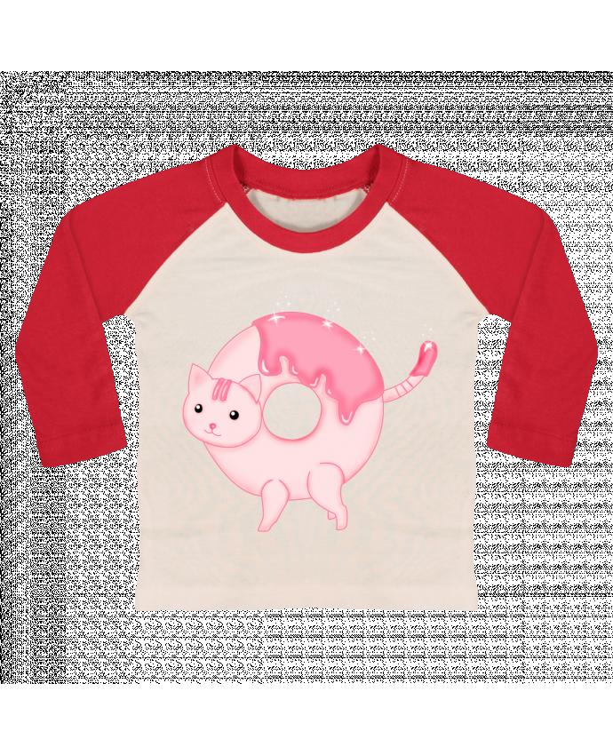 T-shirt Bébé Baseball Manches Longues Tasty Donut Cat par Thesoulofthedevil