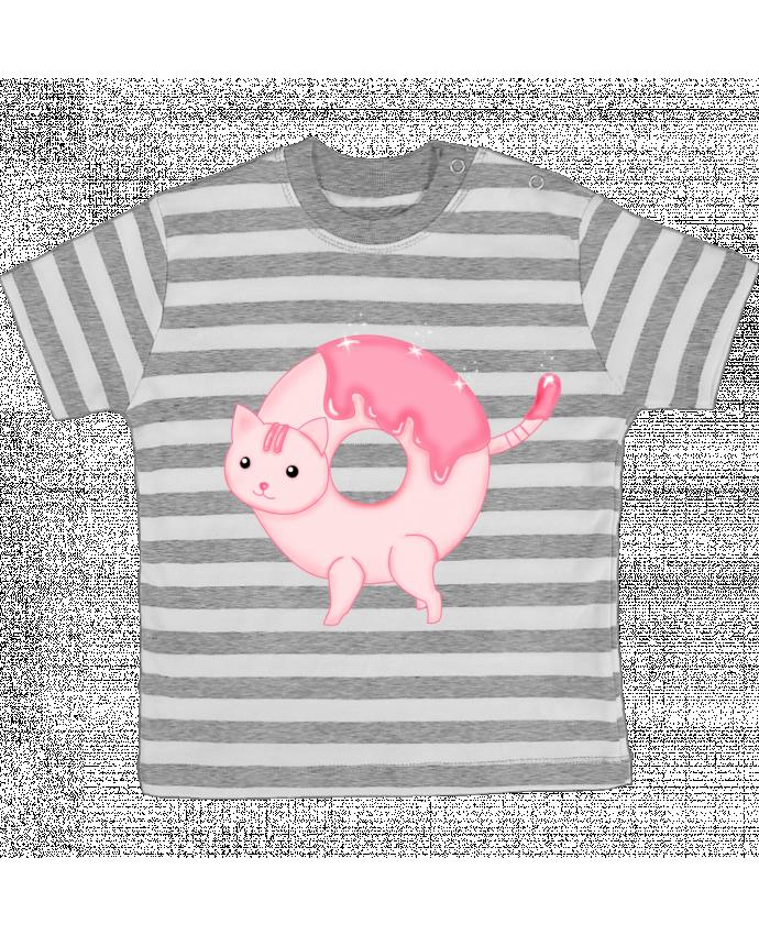T-shirt Bébé à Rayures Tasty Donut Cat par Thesoulofthedevil
