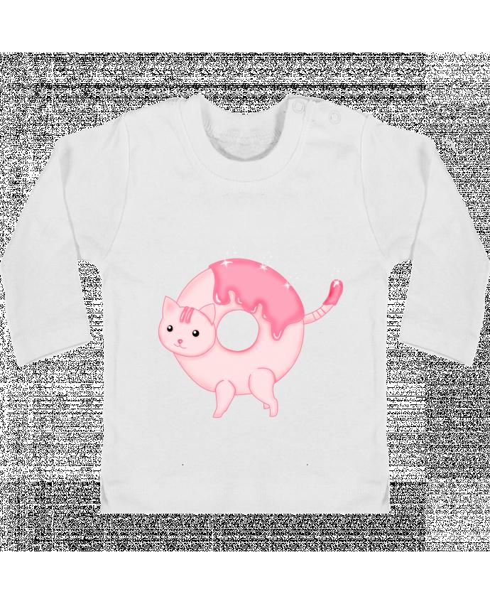 T-shirt Bébé Manches Longues Boutons Pression Tasty Donut Cat manches longues du designer Thesoulofthedevil