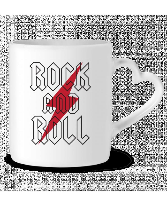 Mug Coeur Rock And Roll par Freeyourshirt.com