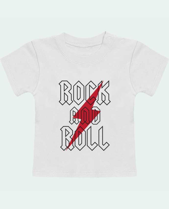 T-shirt bébé Rock And Roll manches courtes du designer Freeyourshirt.com