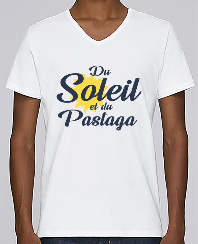 T-shirt Col V Homme Stanley Relaxes Du soleil et du pastaga par tunetoo