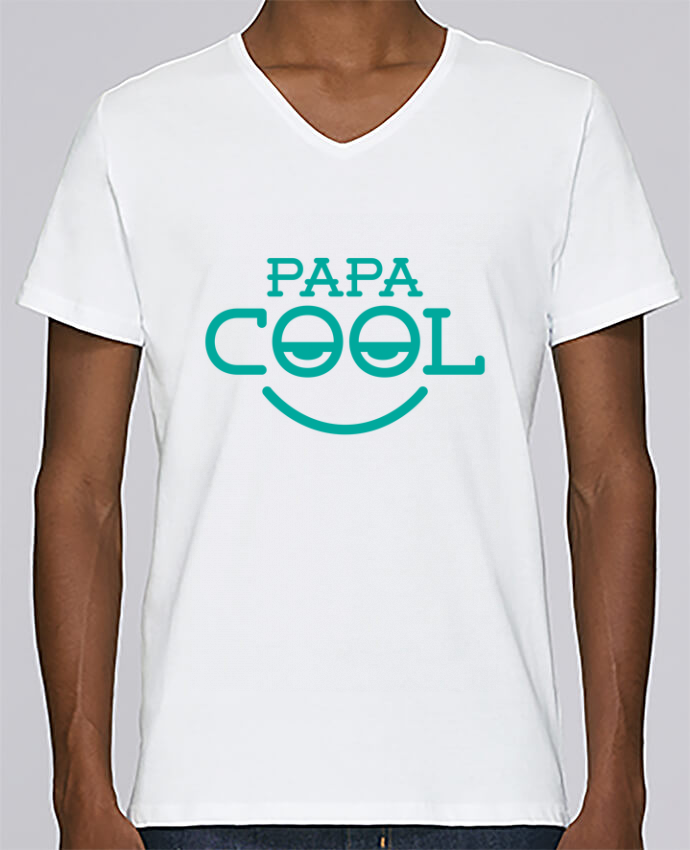 T-shirt Col V Homme Stanley Relaxes Papa cool par tunetoo