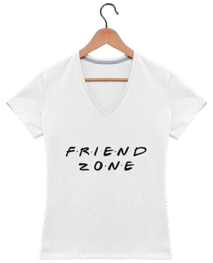 T-shirt Col V Femme 180 gr FRIENDZONE par tunetoo