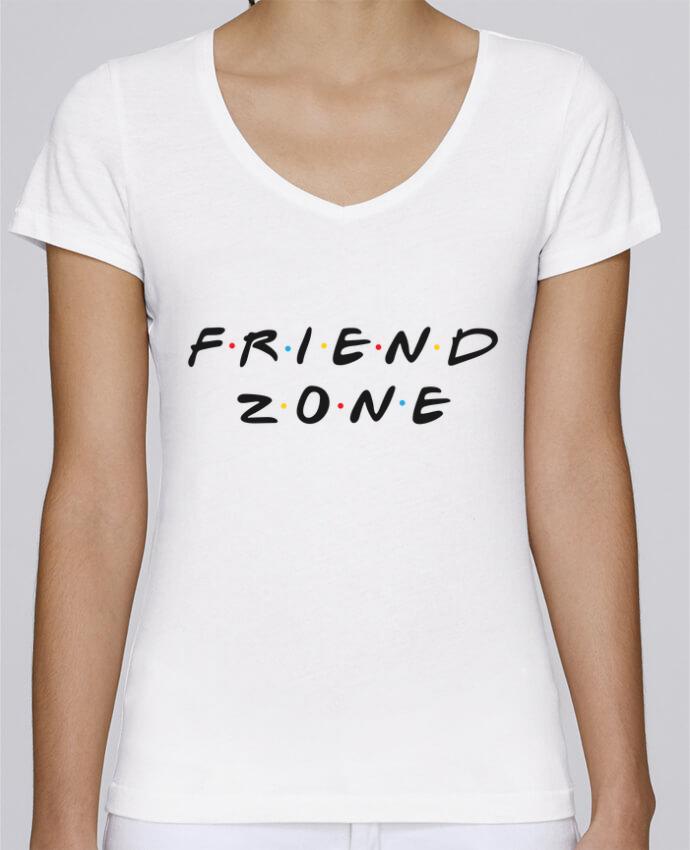 T-shirt Femme Col V Stella Chooses FRIENDZONE par tunetoo
