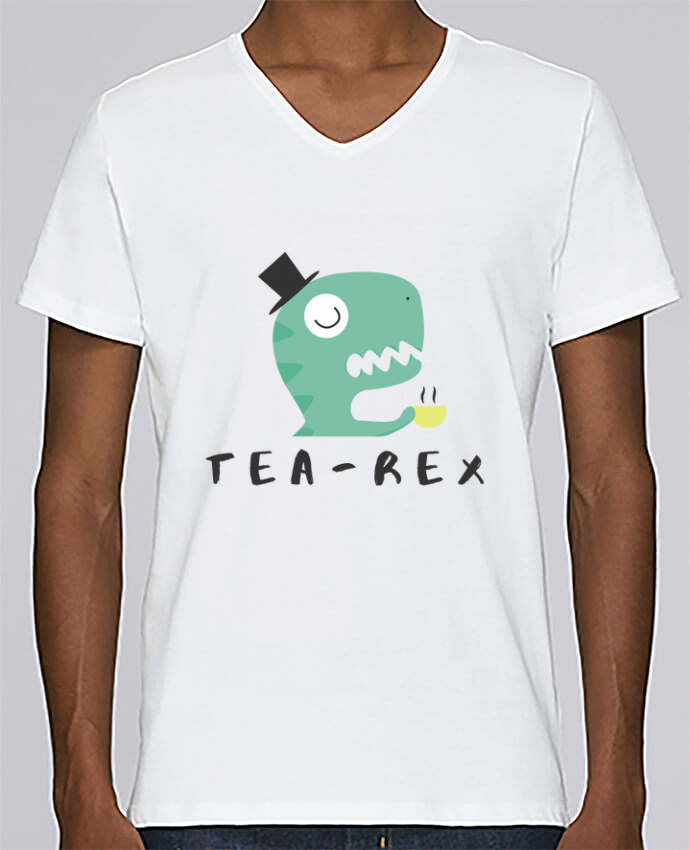 T-shirt Col V Homme Stanley Relaxes Tea-rex par tunetoo