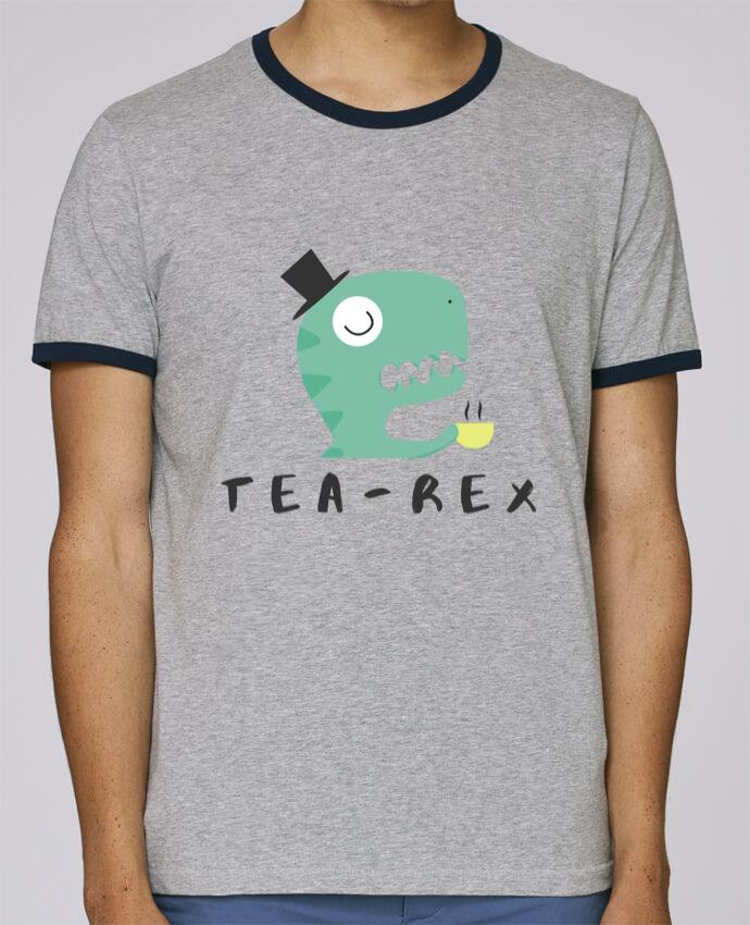 T-Shirt Ringer Contrasté Homme Stanley Holds Tea-rex pour femme par tunetoo