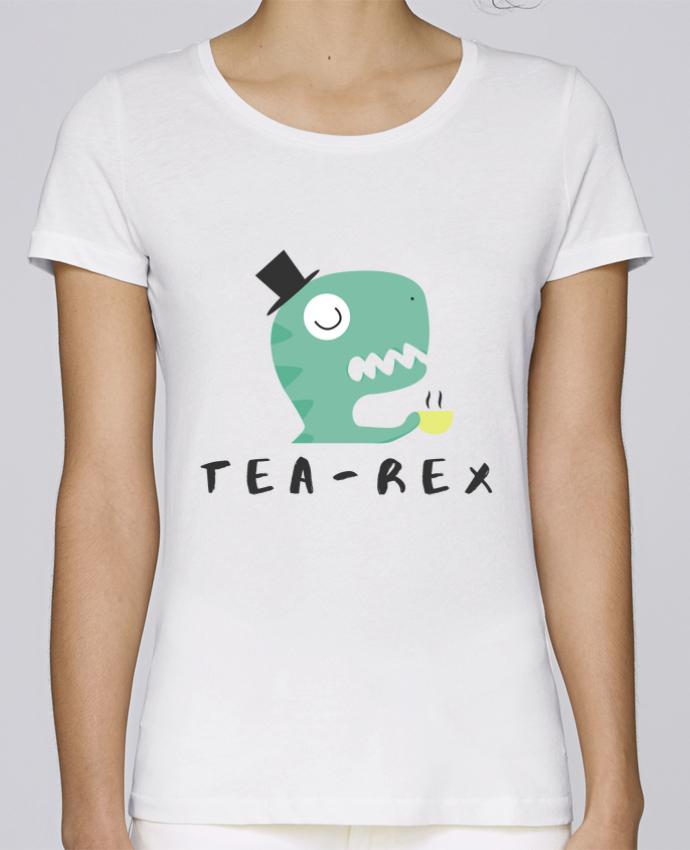 T-shirt  Femme Brodé Tea-rex par tunetoo