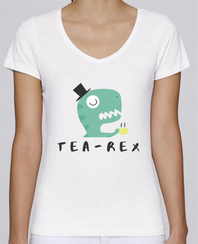 T-shirt femme brodé Stella Chooses Tea-rex par tunetoo
