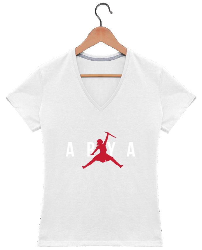 T-shirt Col V Femme 180 gr Air Jordan ARYA par tunetoo