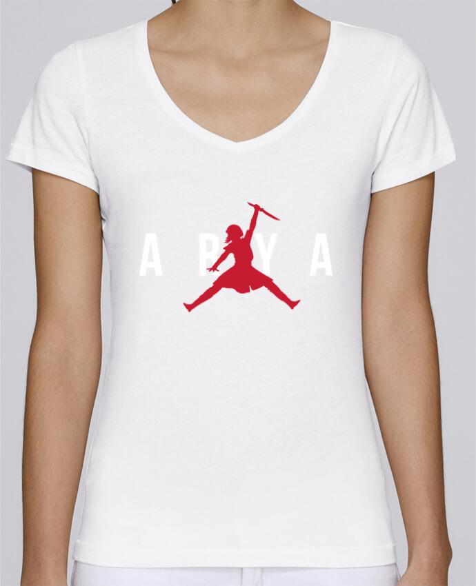T-shirt Femme Col V Stella Chooses Air Jordan ARYA par tunetoo