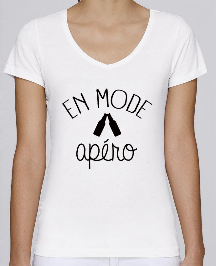 T-shirt Femme Col V Stella Chooses En Mode Apéro par Freeyourshirt.com