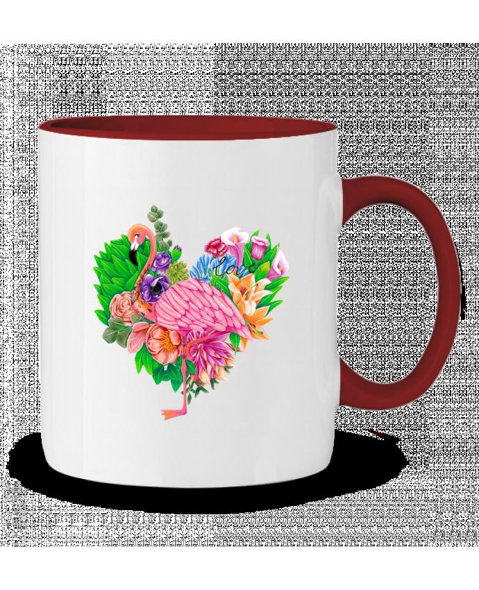 Mug en Céramique Bicolore Flamingo Love Mylittlepaintedboxes