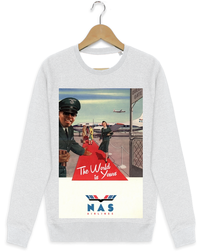 Sweat-shirt Stanley stella modèle seeks Nas Airlines par Ads Libitum