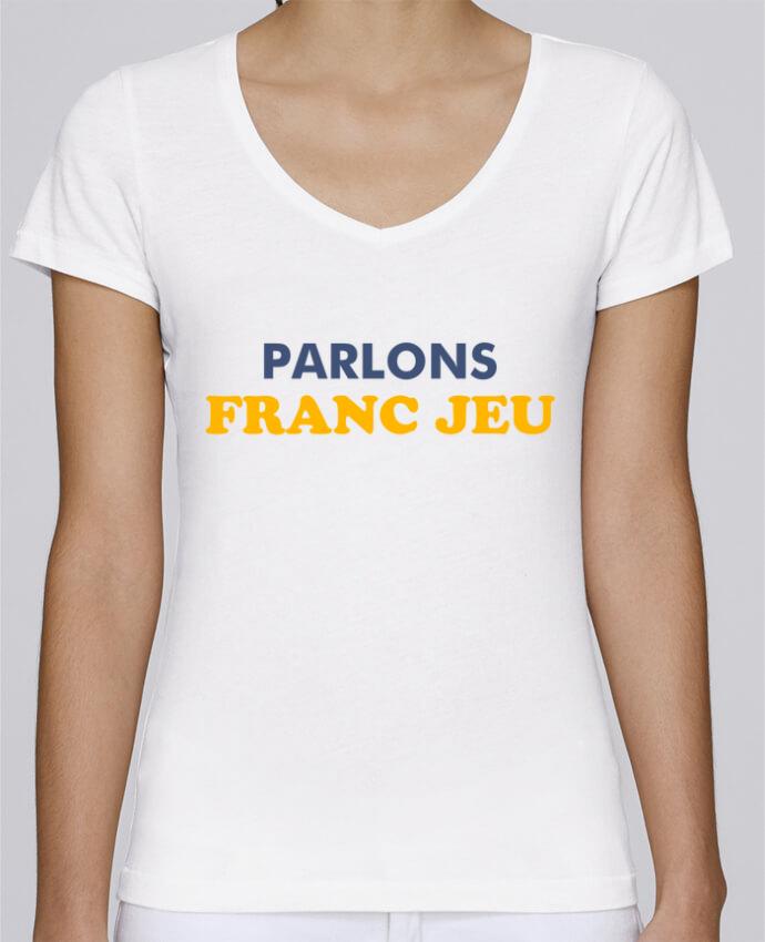 T-shirt Femme Col V Stella Chooses Parlons franc jeu par tunetoo