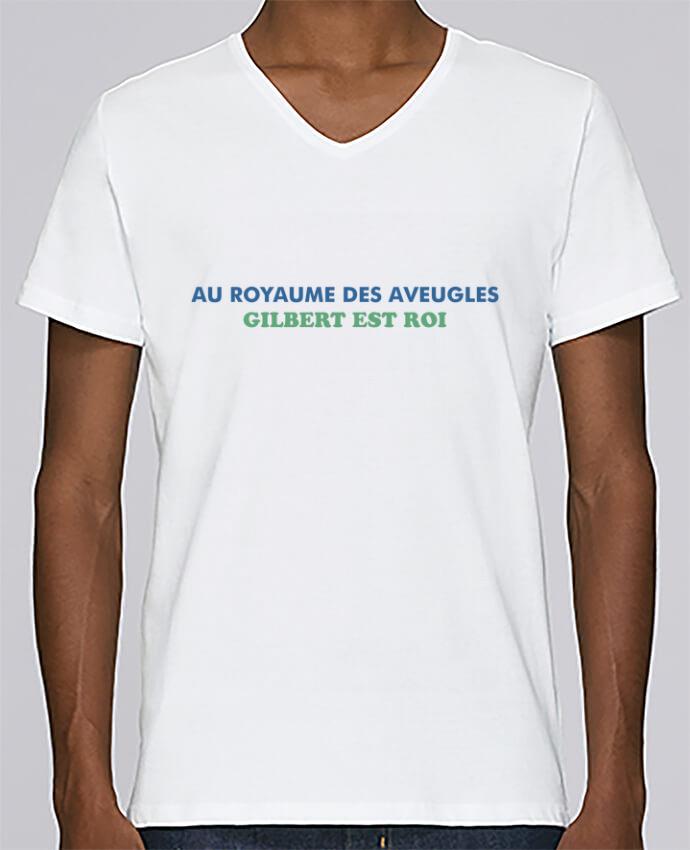 T-shirt Col V Homme Stanley Relaxes Au royaume des aveugles par tunetoo