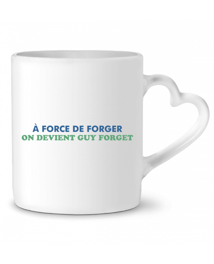 Mug Coeur A force de forger par tunetoo