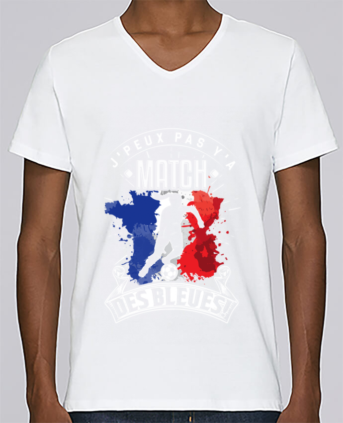 T-shirt Col V Homme Stanley Relaxes Footballeuse - Equipe de France féminine de football - Coupe du monde - J
