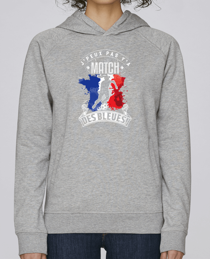Sweat Capuche Femme Stanley Base Footballeuse - Equipe de France féminine de football - Coupe du monde - J