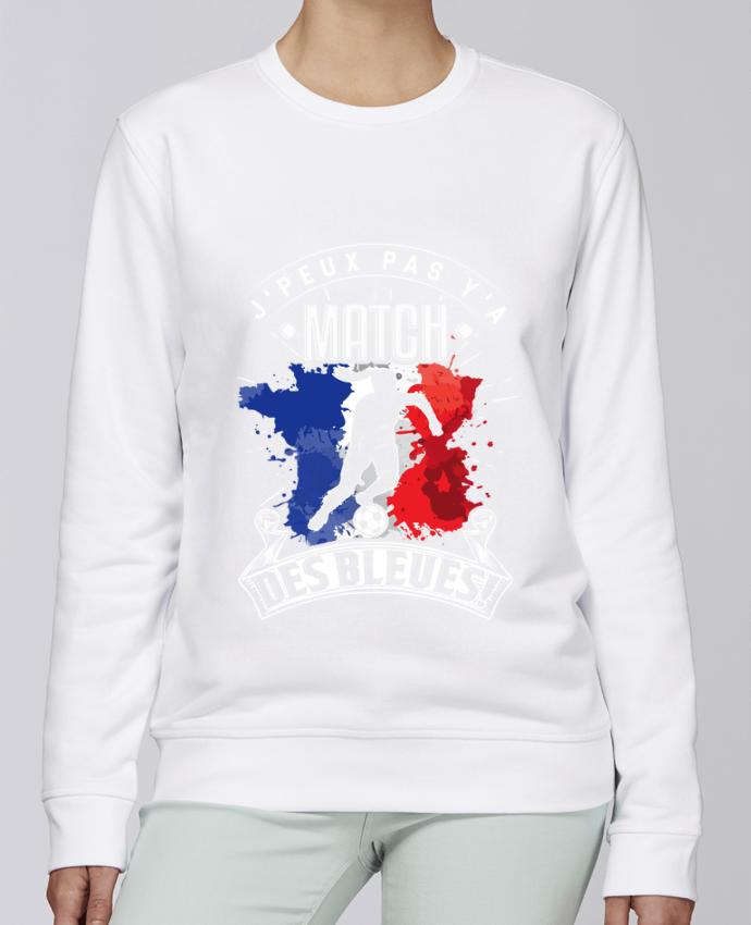 Sweat Col rond Unisexe Stanley Stella Rise Footballeuse - Equipe de France féminine de football - Coupe du monde - J'peux pas y'a