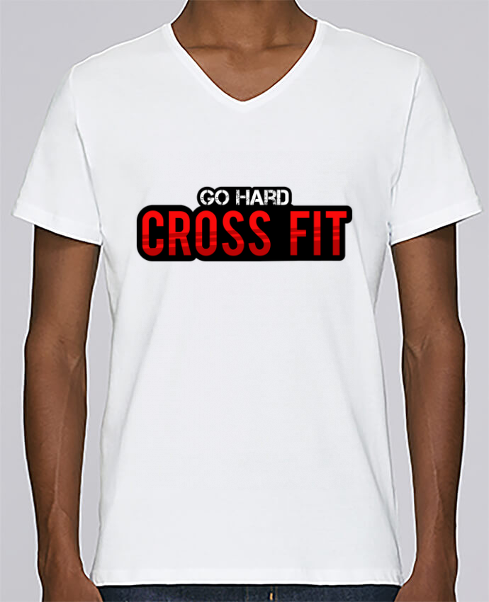 T-shirt Col V Homme Stanley Relaxes Go Hard ! Crossfit par tunetoo