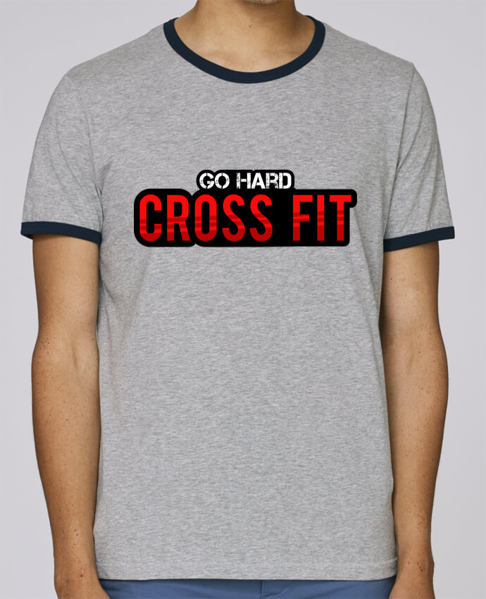 T-Shirt Ringer Contrasté Homme Stanley Holds Go Hard ! Crossfit pour femme par tunetoo