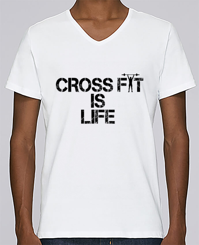 T-shirt Col V Homme Stanley Relaxes Crossfit is life par tunetoo
