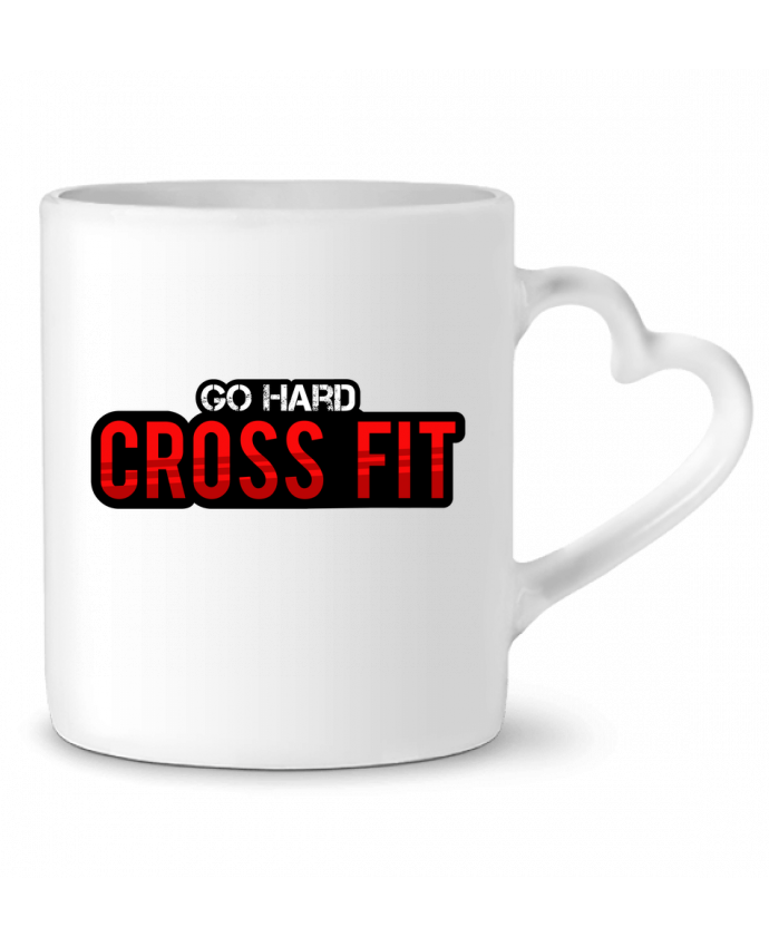 Mug Coeur Go Hard ! Crossfit par tunetoo
