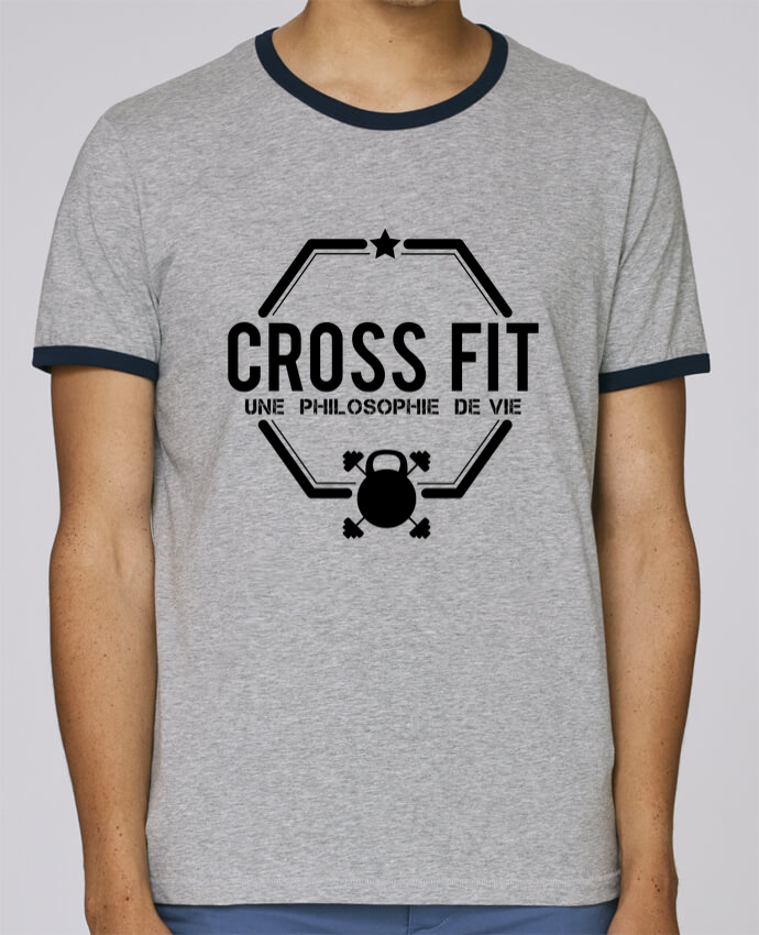 T-Shirt Ringer Contrasté Homme Stanley Holds Crossfit une philosophie de vie pour femme par tunetoo
